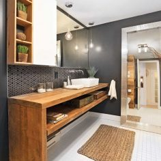 A rustic chic bathroom – Bathroom – Inspirations – Decoration and renovation – Pratico Pratique  – J Mtt