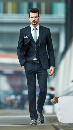 Fashion trends, anthracite gray suit for modern men  – ArchZine FR