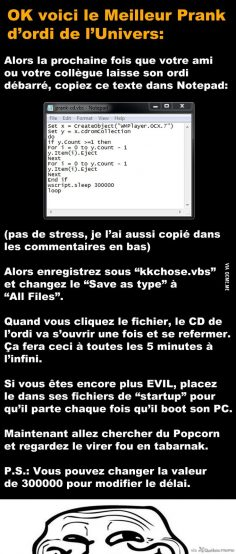 OK here is the best computer prank in the universe:  – Manon Do