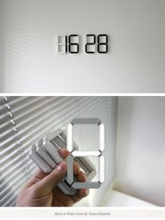 More of an independent gadget, the Black  White Clock isn't just for independent geeks. The unique design carries four individual numbers which can be placed on various surfaces around the house without the hassle of replacing batteries.  – Paris Pictures