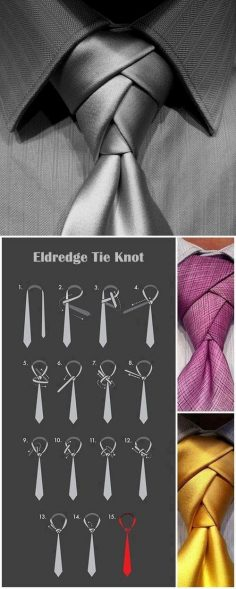 Love tying a tie for a man…. New way…..someone put a suit on!  – Philippe CAO