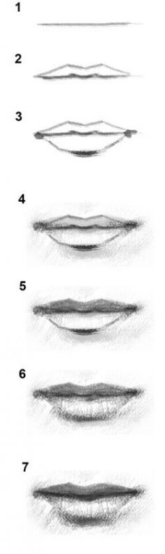 How to draw the mouth!  – Em Chab
