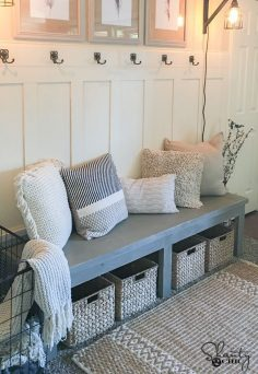 cool DIY $25 Farmhouse Bench – Free plans and video tutorial to build your own!… by www.danazhome-dec…  – lole_lolai