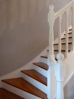 staircase painted white  – juliasmb