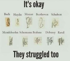 This collection of treble clefs that will make you feel better about drawing your own.  – MiaDjey