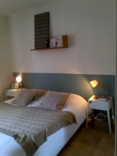farrow and ball, when you hold us !!!! exceptional colors, home-made headboard  – emilielikes