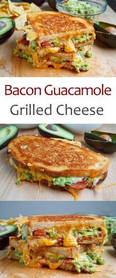 Bacon Guacamole Grilled Cheese Sandwich- this grown up grilled cheese combines all the things we all love: bacon, cheese and guac!  – cindermew