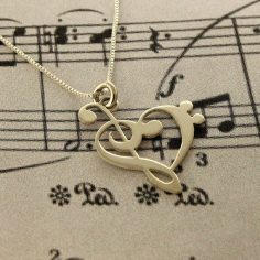 This teensy clef heart necklace ($45). so cute | 32 Impossibly Cute Pieces Of Jewelry For Music Lovers  – emyroustan