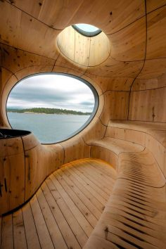 Perched at the north-west edge of a private island, located north of the city of Toronto, Canada, the Grotto Sauna is a sculpted space designed by local studio Partisans that offers a dream-like location for a retreat. When Partisans met on site, the…  – ericguegan9