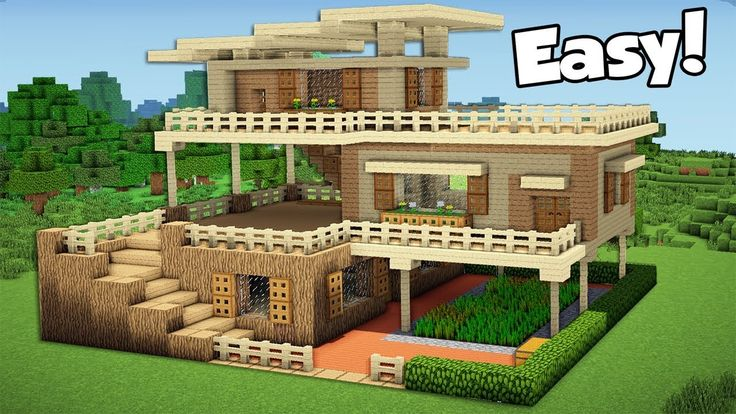 Minecraft How To Build A Large Starter House Tutorial 2 Youtube Xaviertinseau Pctr Up