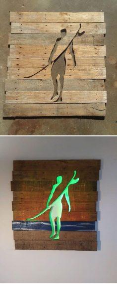 Pallet glowing man art #art  – correards