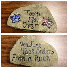 Want a harmless and cute prank? Leave this rock out for your kid to find. | 37 Brilliant April Fools' Day Pranks Your Kids Will Totally Fall For  – sbbn77