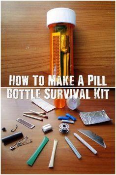 How To Make A Pill Bottle Survival Kit – These little pill bottle survival kits have the bare minimum to survive a night or two in the wild. The pill bottle has one more ace up it's sleeve too, its water proof so your kit can get submerged and yo…  – morvanolivier29