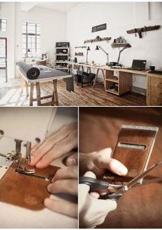 Mathew James Neilson – leather workshop www.utelier.com/  – chloerouchon