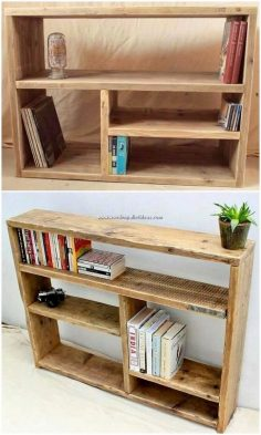 To have bookshelf set as made from the wood pallet material is quite a finest alternative for your home use. This whole shelf has been best making you offer out with the coverage of the shelving portions being so compact in sizing structure and looks…  – leacats