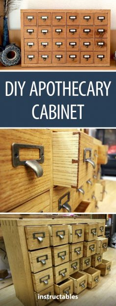 DIY Apothecary Cabinet  #woodworking #storage #organization  – cassagnes7132