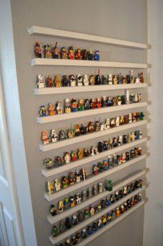 DIY wall shelf for LEGO storage www.homelisty.com …  – homelisty