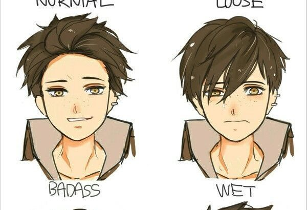 Draw reference style young men ... # hairstyles ...