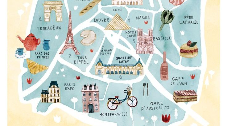 Paris tourist map More - Pctr UP
