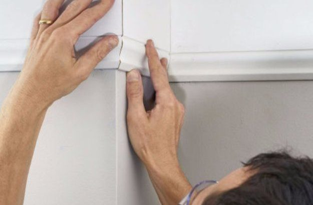 Home Improvement Hacks Install Crown Molding The Easy Way